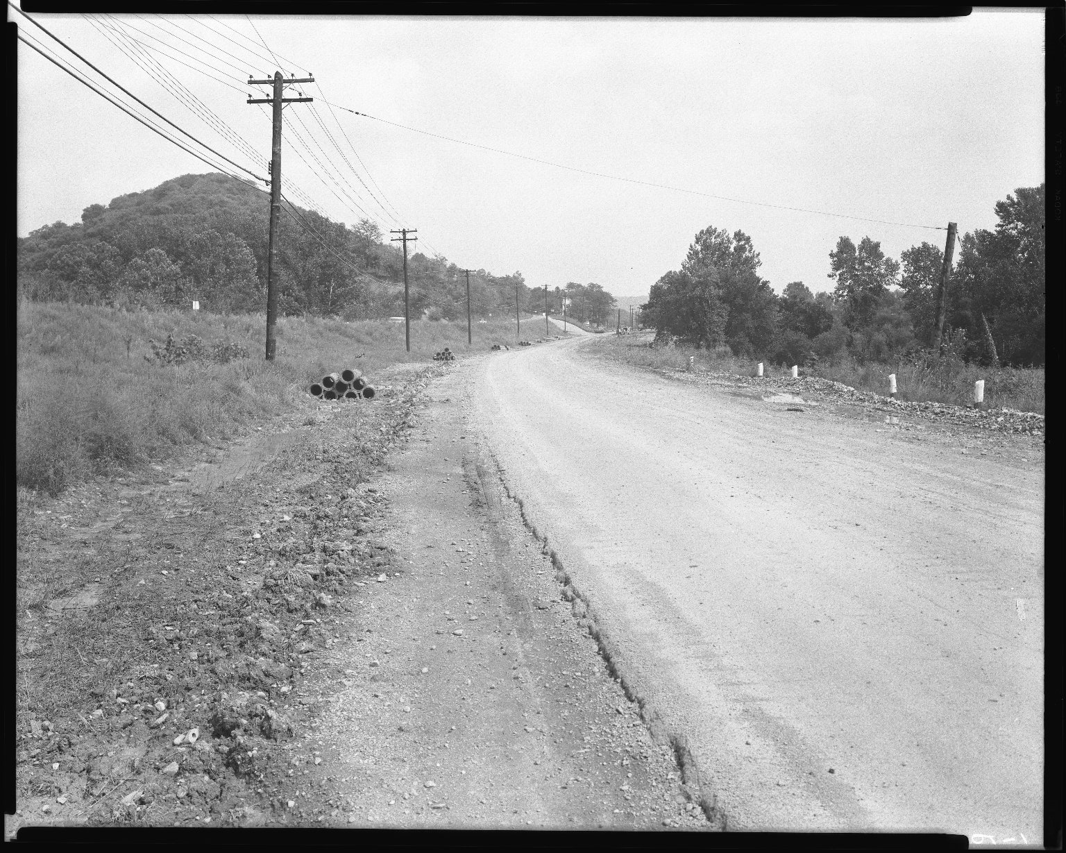 Street Improvement Photographs -- Box 52, Folder 07 (August 29, 1954) -- negative, 1954-08-29