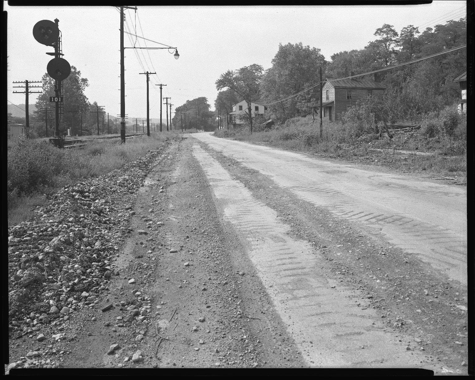 Street Improvement Photographs -- Box 52, Folder 08 (Undated) -- negative, 1954