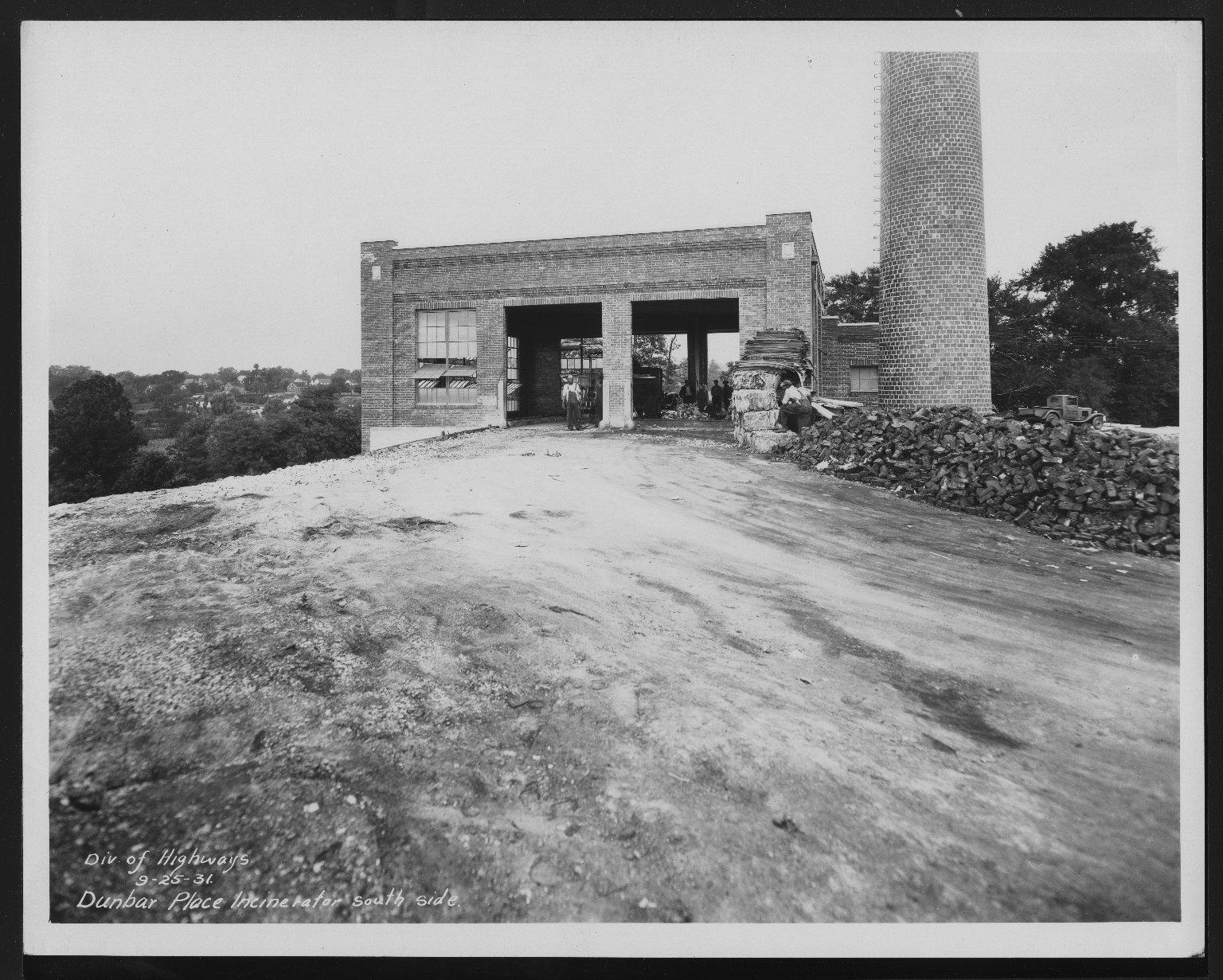 Miscellaneous Photographs -- Box 53, Folder 17 (Dunbar Incinerator) -- print, 1931-09-25