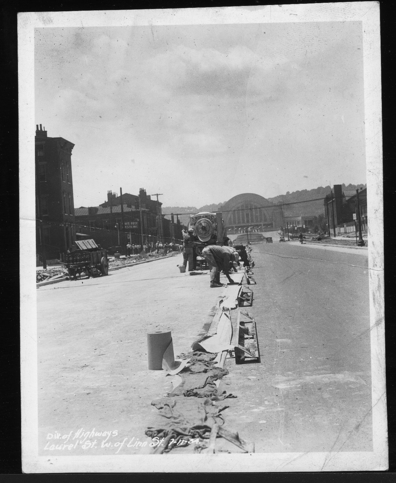 Miscellaneous Photographs -- Box 53, Folder 29 (Misc. Street improvements (small)) -- print, 1934-07-11