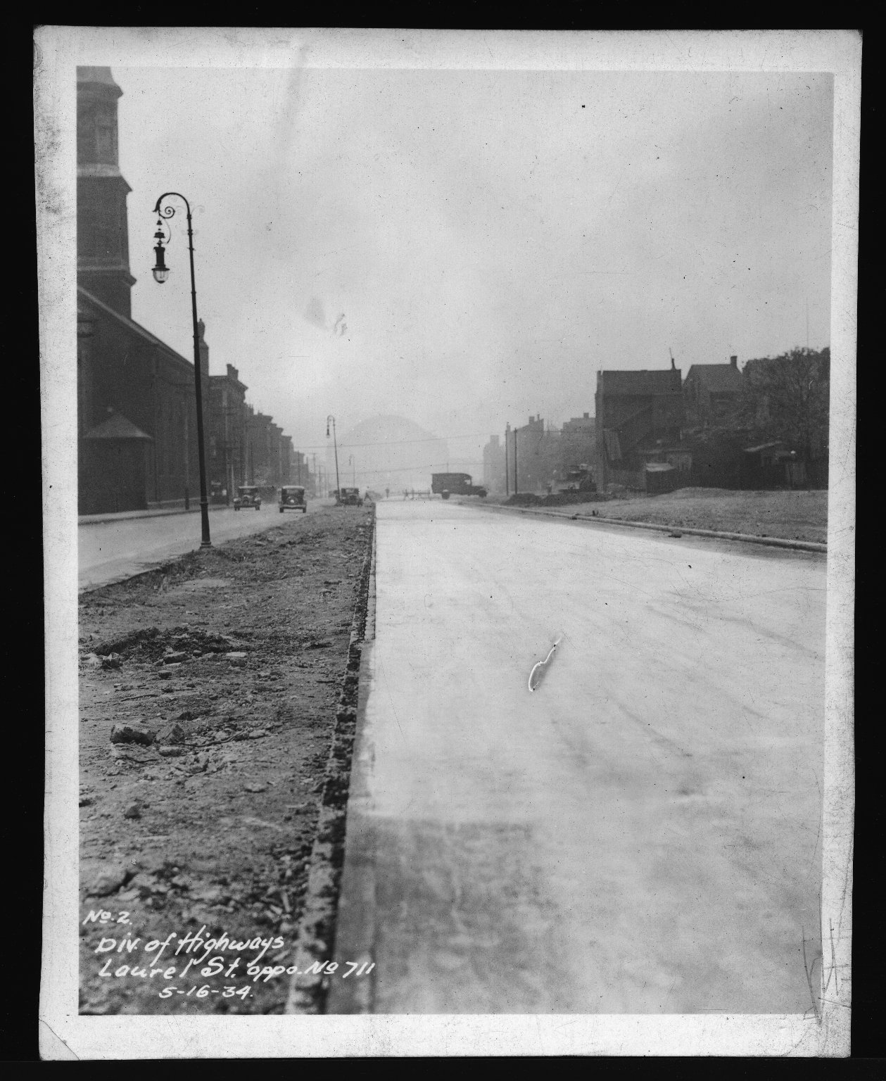 Miscellaneous Photographs -- Box 53, Folder 29 (Misc. Street improvements (small)) -- print, 1934-05-16