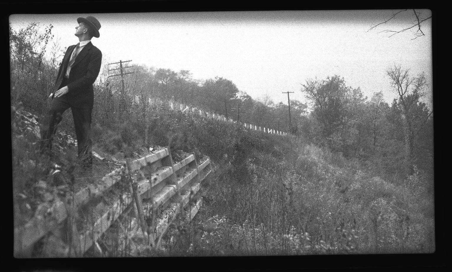 Miscellaneous Photographs -- Box 54, Folder 01 (Armco B in Type Retaining Walls) -- negative, 1940
