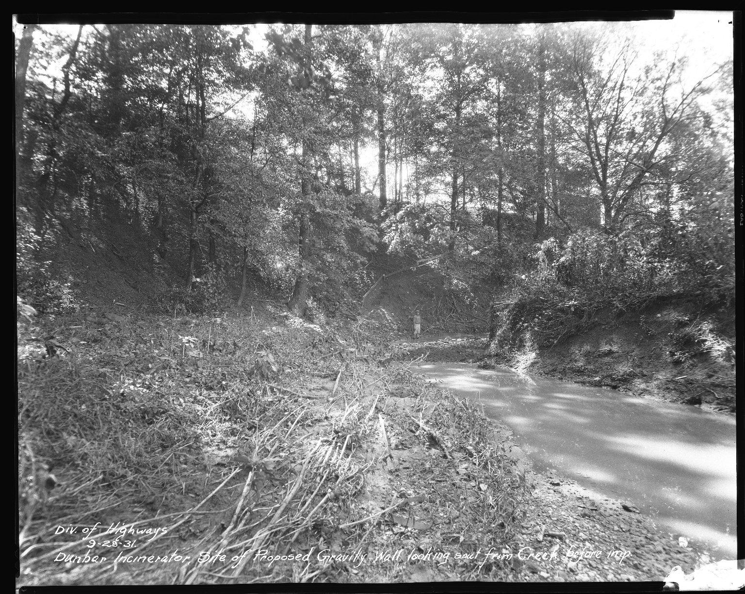 Miscellaneous Photographs -- Box 54, Folder 13 (Dunbar Place Incinerator) -- negative, 1931-09-28