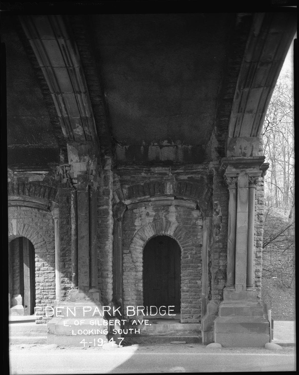 Miscellaneous Photographs -- Box 54, Folder 14 (Eden Park Bridge) -- negative, 1947-04-19