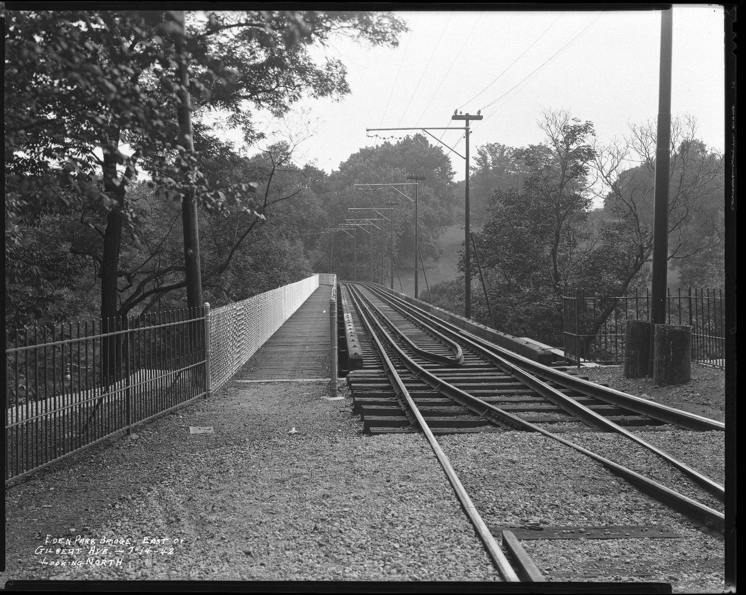 Miscellaneous Photographs -- Box 54, Folder 14 (Eden Park Bridge) -- negative, 1942-07-14