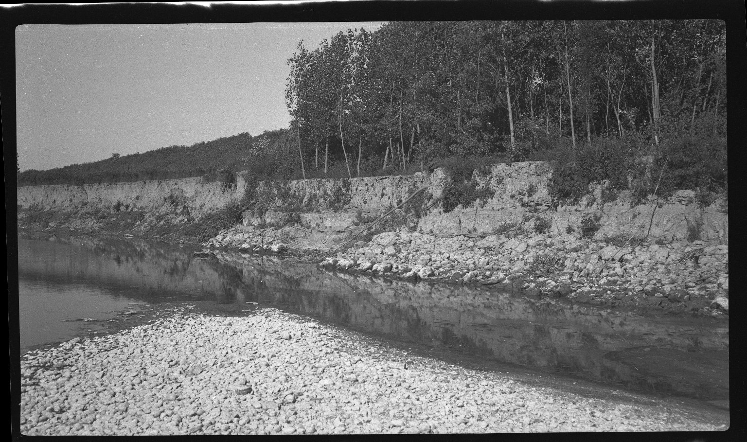 Miscellaneous Photographs -- Box 54, Folder 24 (Little Miami River Cut-Off Channel) -- negative, 1940-08-12