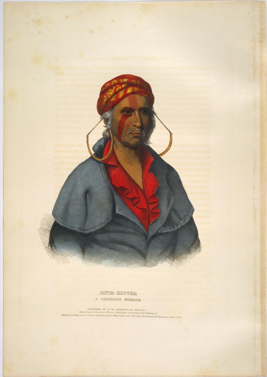 Payta-kootha, a Shawanoe warrior