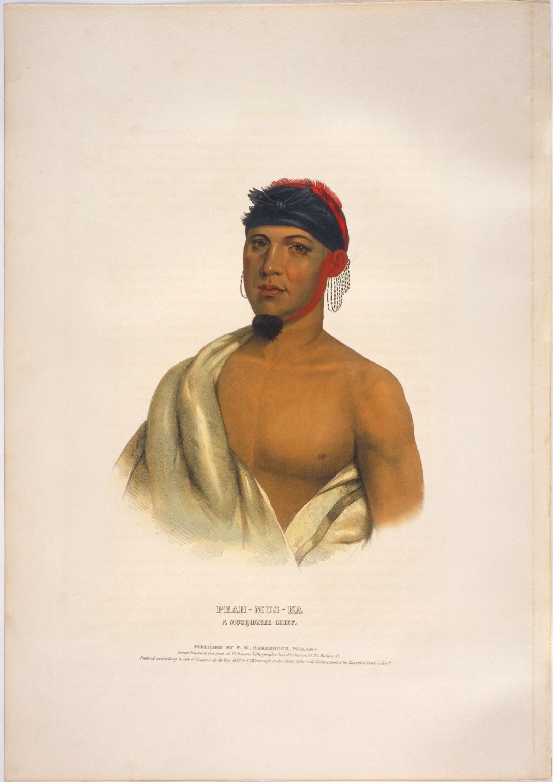 Peah-mus-ka, a Musquakee chief