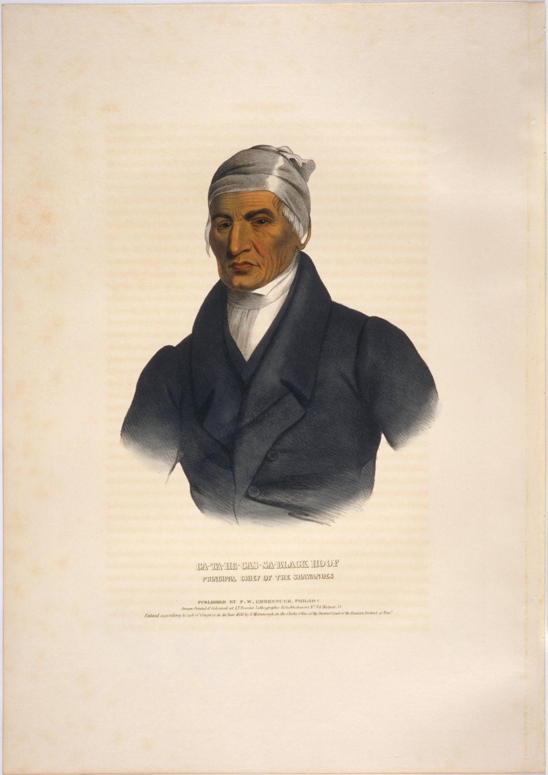 Ca-ta-he-cas-sa Black Hoof, principal chief of the Shawanoes