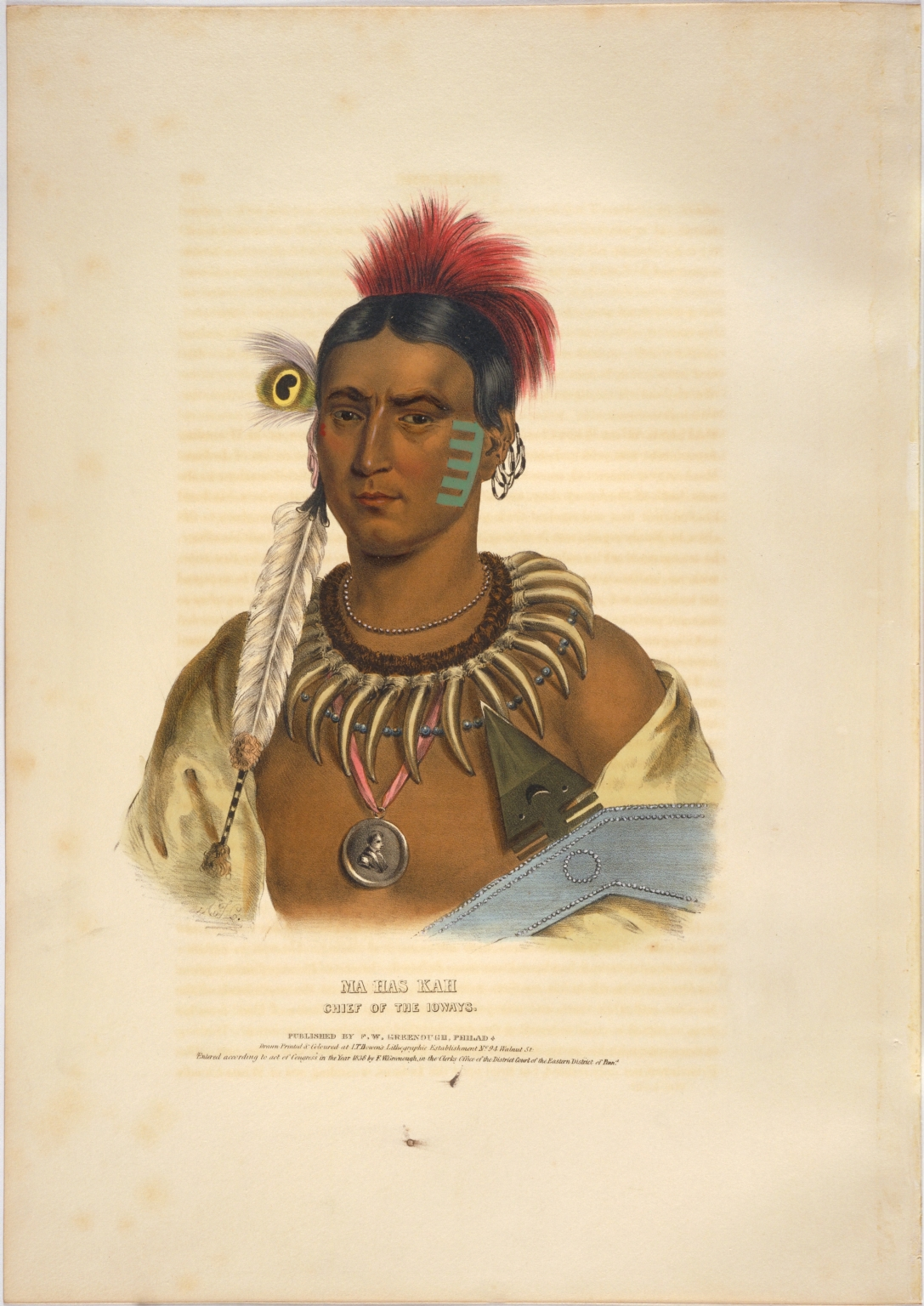 Ma has kah, chief of the Ioways