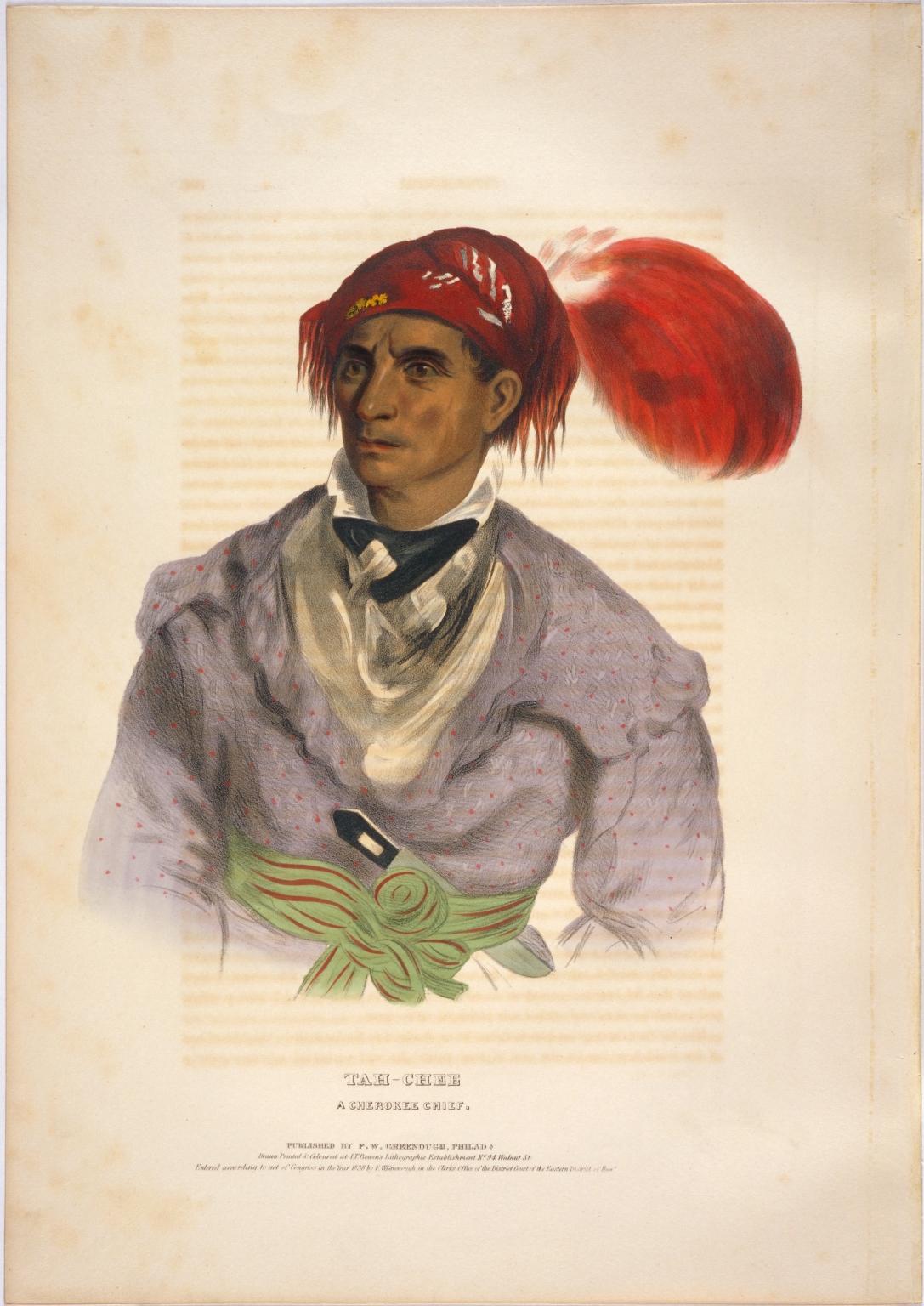 Tah-chee, a Cherokee chief