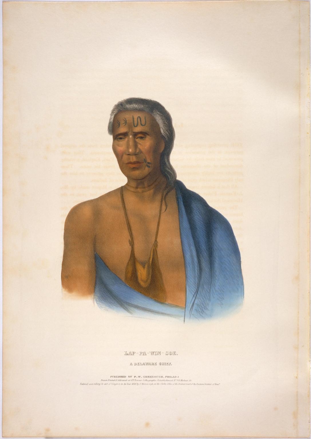 Lap-pa-win-soe, a Delaware chief