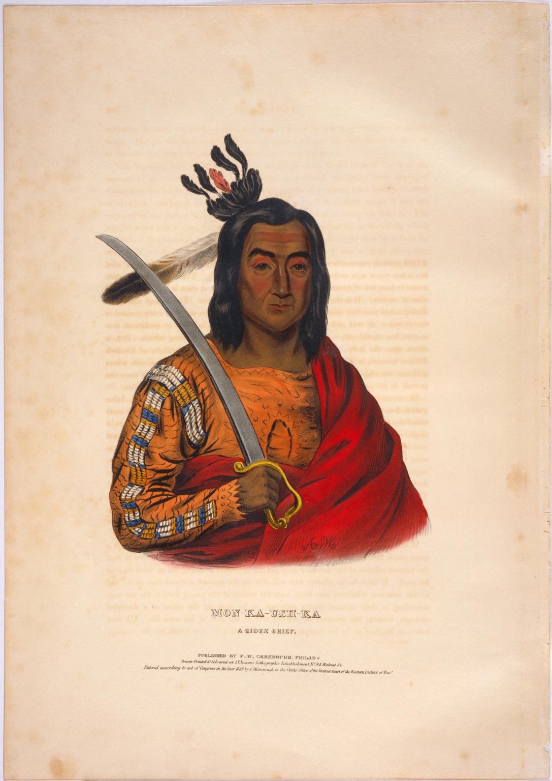Mon-ka-ush-ka, a Sioux chief