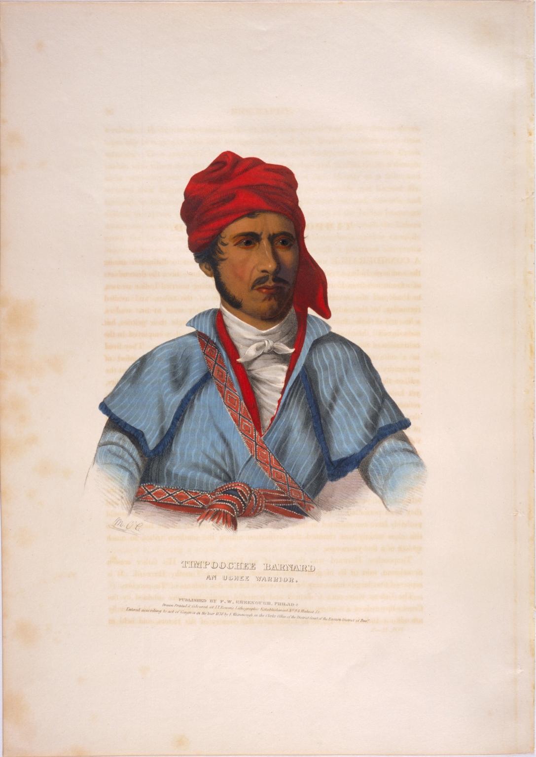 Timpoochee Barnard, an Uchee warrior