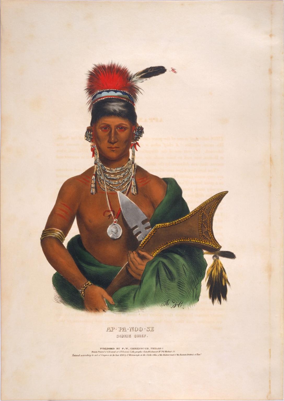 Ap-pa-noo-se, Saukie chief