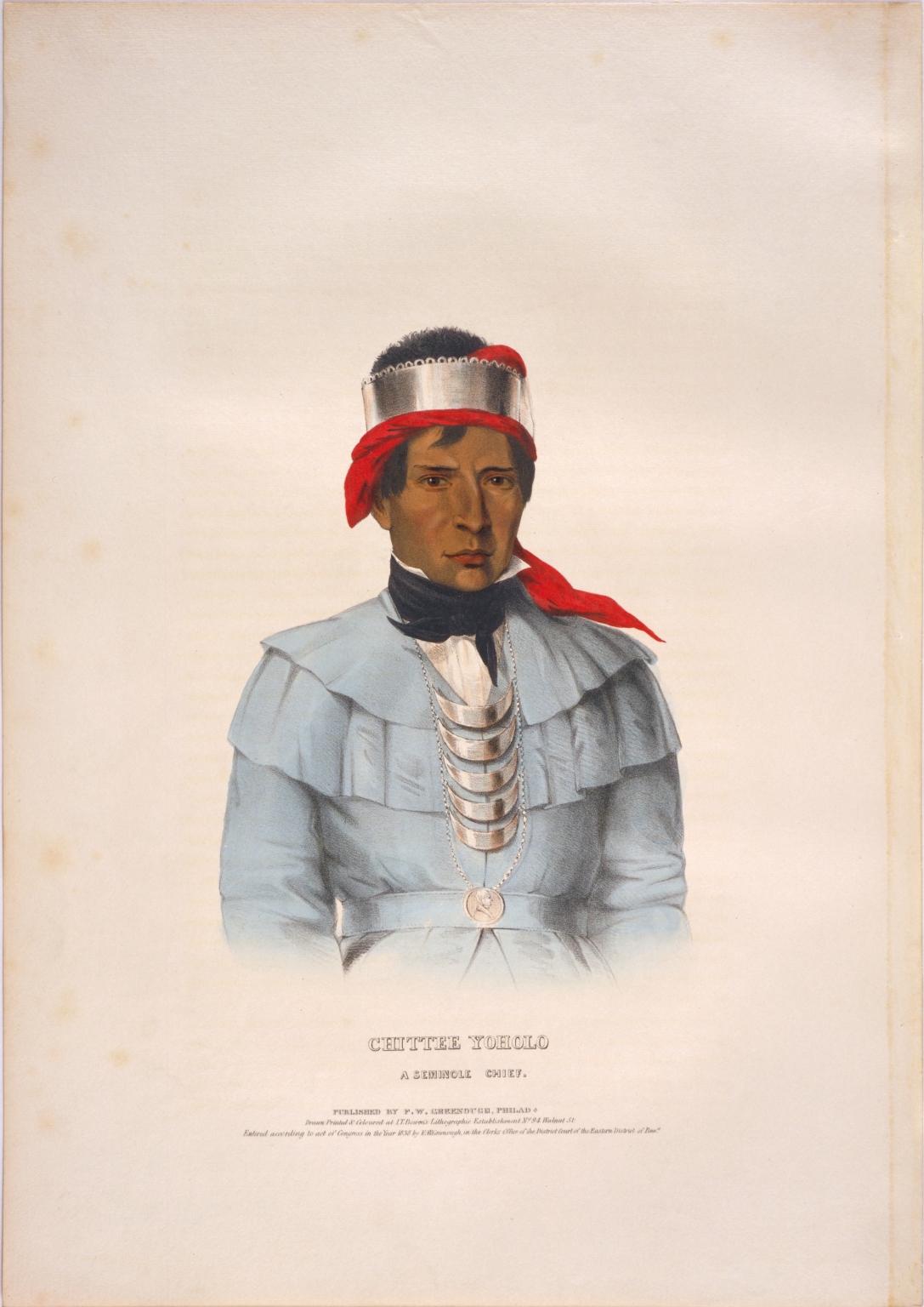 Chittee Yoholo, a Seminole chief