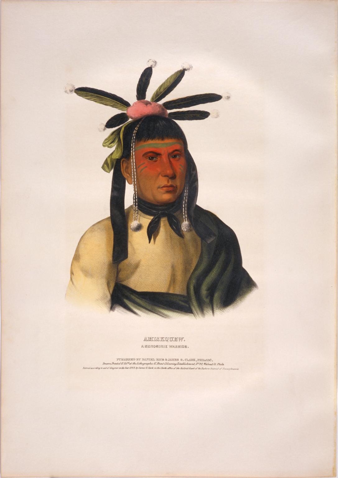 Amiskquew, a Menominie warrior