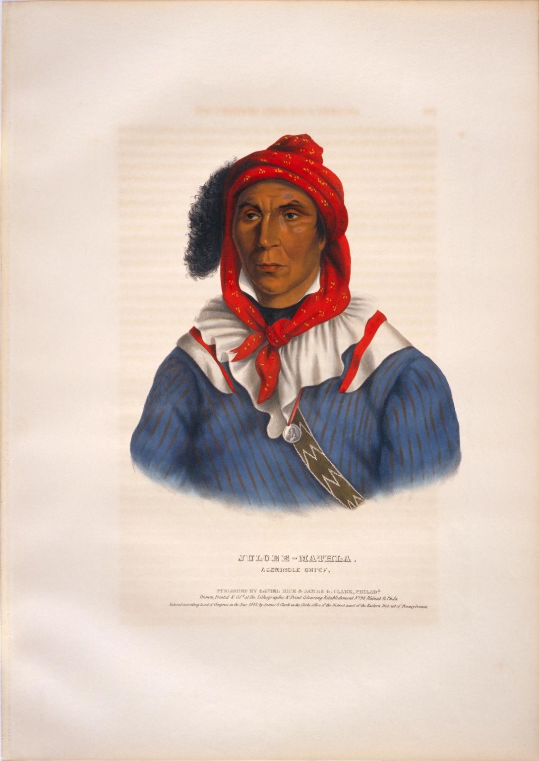 Julcee-Mathla, a Seminole chief