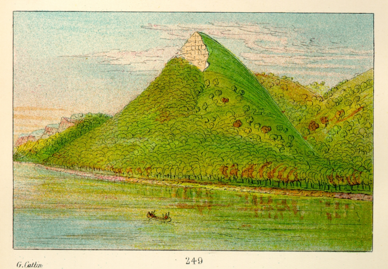 """Pike's Tent,"" the highest bluff on the Mississippi"