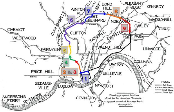 Cincinnati Subway Map