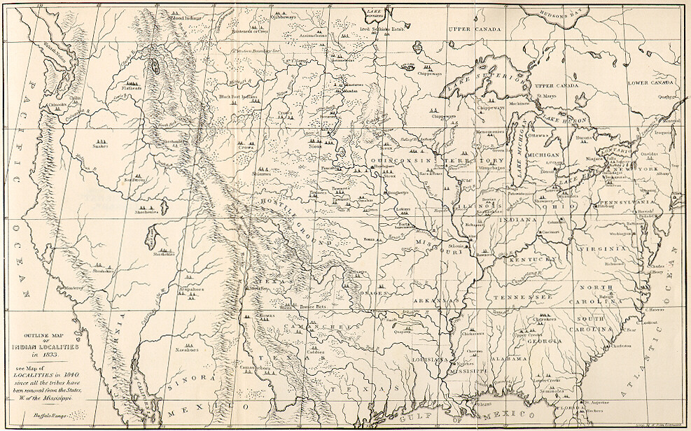 Cincinnati >> Medicine Painter: George Catlin on the Upper Missouri River, 1832. Map of 1832 Upper Missouri Trip.