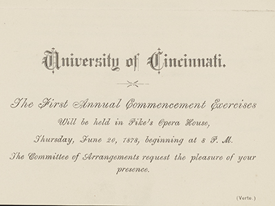 First Annaul Commencement